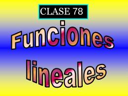 Clase 78: Funciones Lineales