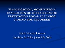 María Victoria Llorente - Planificacion programas prevencion