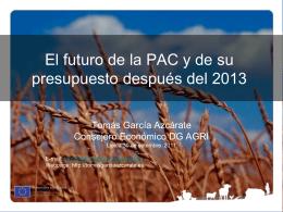 La PAC après 2013: état des lieux d`un débat