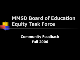 Equity Task Force Feedback presentation