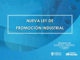 Nueva Ley de Promoción Industrial