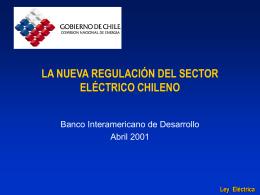 Nueva Ley eléctrica CNE Chile