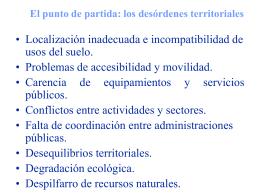 1. La ordenación del territorio, una nueva perspectiva para Andalucía
