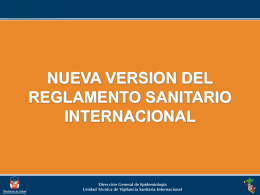 NUEVA VERSION DEL REGLAMENTO SANITARIO INTERNACIONAL