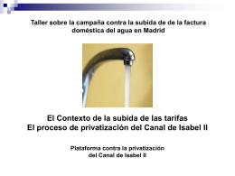 Presentación - Plataforma contra la privatización del CYII