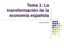 Tema 1: La transformación de la economía española