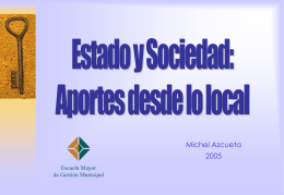 Estado y Sociedad desde lo Local Michael Azcueta