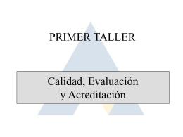 Taller 1 Calidad, evaluacion y acreditacion