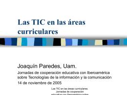 Didáctica de las TIC en las Áreas Curriculares