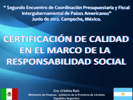 Cra. Cristina Ruiz