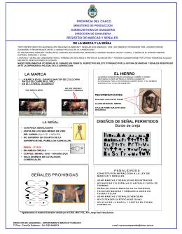 Afiche marcas y señales - Ministerio de Producción Del Chaco