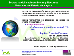 Aquileo Guzmán - INE- INEGEI- Agricultura
