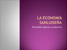 Actividades económicas. San Luis