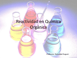 Reactividad en Quimica Naty (Química