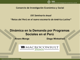 Power Point - Consorcio de Investigación Económica y Social