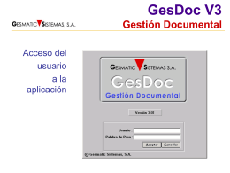 GesDoc V3 Gestión Documental
