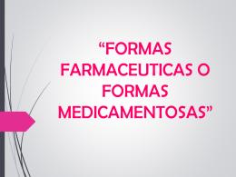 formas farmaceuticas - SERVICIOS FARMACEÚTICOS PRIMER