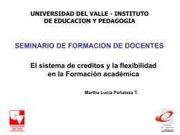 El sistema de créditos - Intenalco Educación Superior