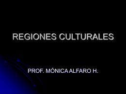 REGIONES CULTURALES 2013