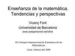 Tendencias actuales en la enseñanza de la matemática.