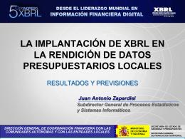 D. Juan A. Zapardiel - Asociación XBRL España