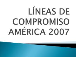 Lineas de Compromiso 2007-2013