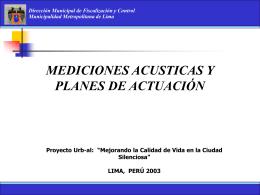 LIMA, PERÚ 2003 Dirección Municipal de Fiscalización y Control