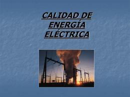 Calidad de la energía eléctrica - Instituto Tecnológico de Toluca