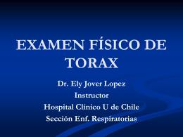 EXAMEN FÍSICO DE TORAX