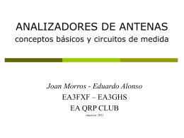 ANALIZADORES DE ANTENAS conceptos básicos y