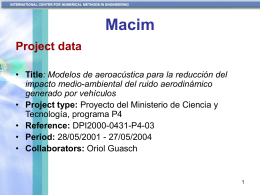 Modelos de aeroacústica para la reducción del impacto medio