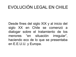 EVOLUCIÓN LEGAL EN CHILE