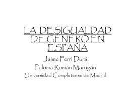 LA MUJER EN ESPAÑA