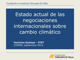 Las negociaciones internacionales en CC – Gutman – ITDT