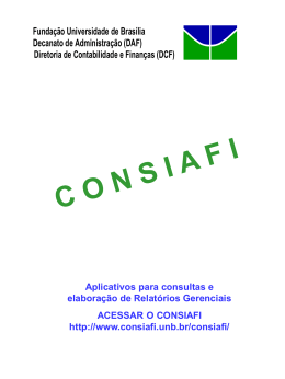Manual do CONSIAFI - Decanato de Administração