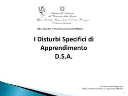 Slide DSA - Ufficio IX - Ambito territoriale di Parma e Piacenza