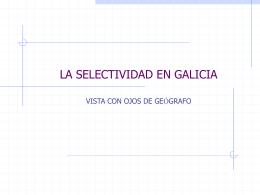 la selectividad logse en galicia - Asociación de Geógrafos Españoles