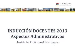 INDUCCIÓN DOCENTES 2013 Aspectos