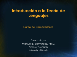 Teoría de Lenguajes - University of Florida