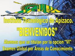 Diapositiva 1 - Instituto Tecnológico de Apizaco