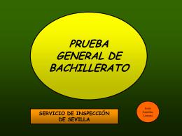prueba general de bachillerato