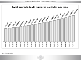 Estadísticas de Portabilidad (Power Point)