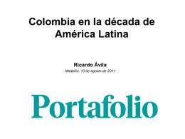 Colombia en la década de América Latina