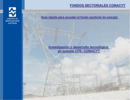 Fondo sectorial de Energía CFE