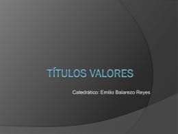 Títulos Valores - Facultad de Derecho