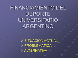 financiamiento del deporte universitario argentino
