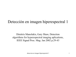 Detección en imagen hiperespectral 1
