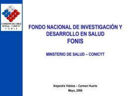 fondo nacional de investigación y desarrollo en salud fonis