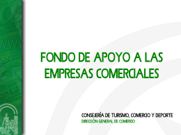 Presentación Dirección General de Comercio
