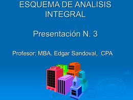 ESQUEMA DE ANALISIS INTEGRAL Presentación N. 3